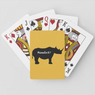 Jogo De Baralho Rinoceronte da silhueta