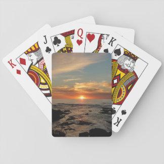 Jogo De Baralho Seascape do por do sol II Califórnia de San Diego