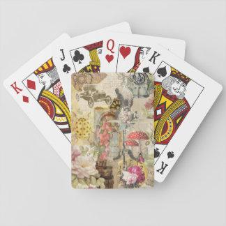 Jogo De Baralho Tema lunático dos cartões de jogo