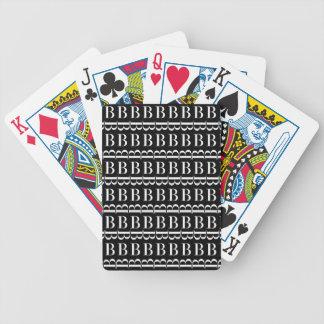 Jogo De Baralho Teste padrão inicial do monograma, letra B no