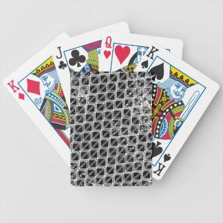 Jogo De Baralho Teste padrão preto e branco afligido