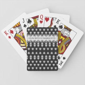 Jogo De Baralho Teste padrão preto e branco elegante
