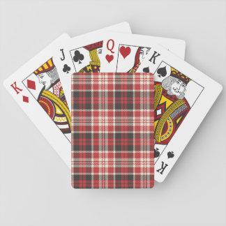Jogo De Baralho Teste padrão vermelho e preto da xadrez