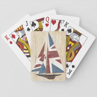 Jogo De Baralho Veleiro britânico da bandeira