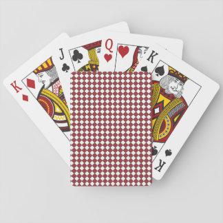 Jogo De Baralho Vermelho padrão dos cartões de jogo do índice