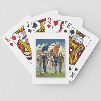 Jogo De Baralho Veteranos orgulhosos - cartões de jogo