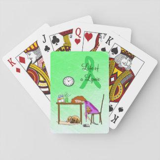 Jogo De Baralho Vivendo os cartões de jogo da doença de Lyme da