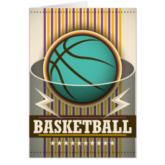 Jogo de bola do esporte do basquetebol legal cartão de nota