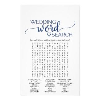 Jogo de busca simples da palavra do casamento da flyer