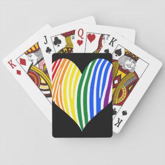 Jogo De Carta A zebra do arco-íris listra o coração
