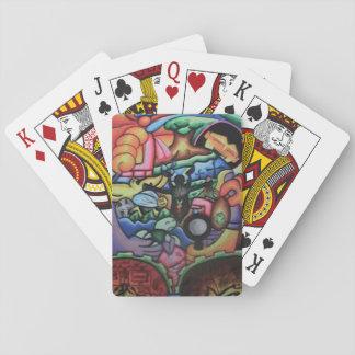 Jogo De Carta Abraçando cartões de jogo temáticos da natureza