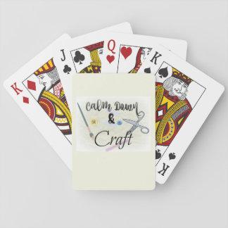 Jogo De Carta Acalme para baixo e cartões de jogo do artesanato