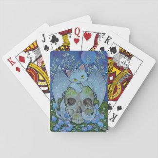 Jogo De Carta Afirmação de Oracle dos gatos da fantasia - morte