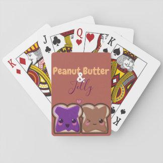 Jogo De Carta Amigos da manteiga e da geléia de amendoim de