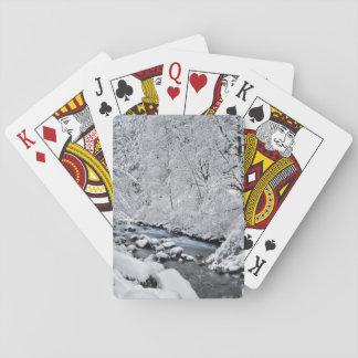 Jogo De Carta Angra cénico, Oregon do branco nevado