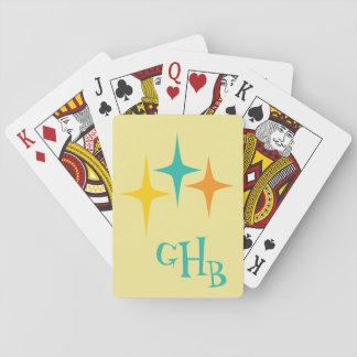 Jogo De Carta Anos 50 astucioso - cartões de jogo triplos do