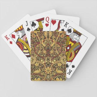 Jogo De Carta Arte floral da tapeçaria de William Morris