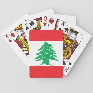 Jogo De Carta Bandeira nacional do mundo de Líbano