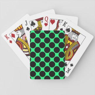 Jogo De Carta Bolinhas pretas no verde do quivi