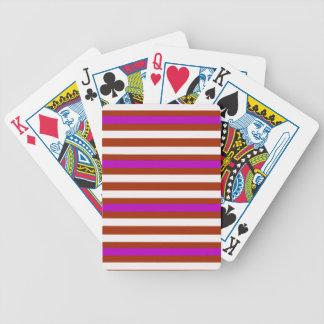 Jogo De Carta Branco vermelho roxo horizontal das listras