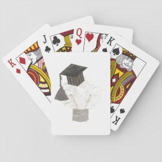 Jogo De Carta Bulbo do formando nenhuns cartões de jogo do fundo
