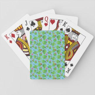 Jogo De Carta Cacto mim cartões de jogo da parte externa (azul)
