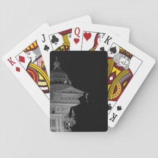 Jogo De Carta Capitólio do estado de Texas na noite (cartões de