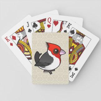 Jogo De Carta Cardeal de crista encarnada de Birdorable