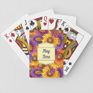 Jogo De Carta Cartão de jogo das flores do tempo do jogo