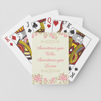 Jogo De Carta Cartão de jogo floral de vencimento