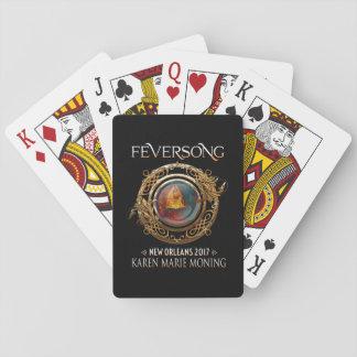 Jogo De Carta Cartões 2017, caras de jogo de Feversong padrão