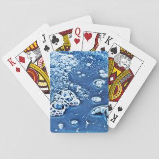 Jogo De Carta Cartões de jogo abstratos do azul da água de gelo