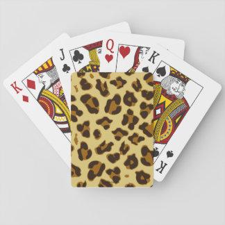 Jogo De Carta Cartões de jogo animais do teste padrão do