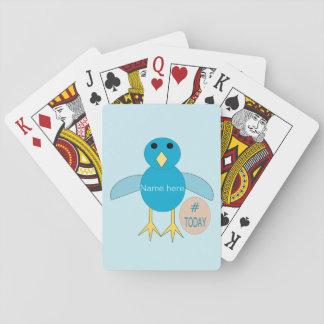 Jogo De Carta Cartões de jogo azuis feitos sob encomenda do