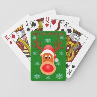 Jogo De Carta Cartões de jogo bonitos dos cervos do Feliz Natal