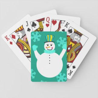 Jogo De Carta Cartões de jogo clássicos do boneco de neve