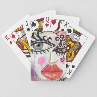 Jogo De Carta Cartões de jogo coloridos artísticos da arte do