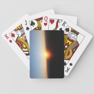 Jogo De Carta Cartões de jogo com por do sol da montanha