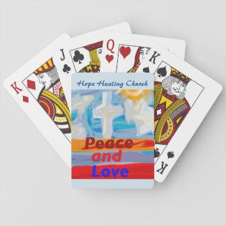Jogo De Carta Cartões de jogo curas da paz e do amor da igreja