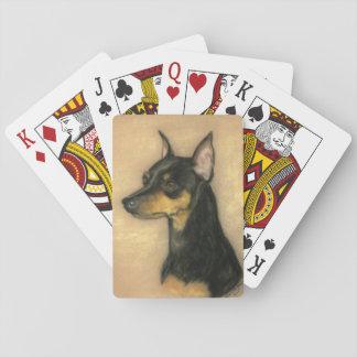 Jogo De Carta Cartões de jogo da arte do cão do Pinscher