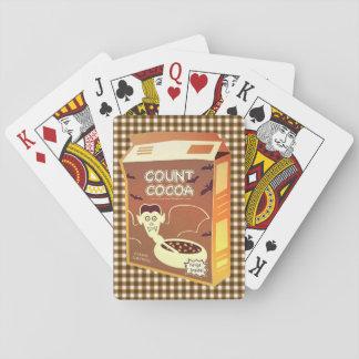 Jogo De Carta Cartões de jogo da caixa de cereal do cacau da