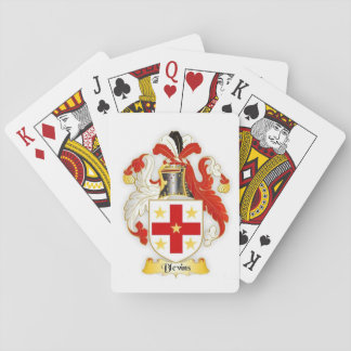 Jogo De Carta Cartões de jogo da heráldica da crista da família
