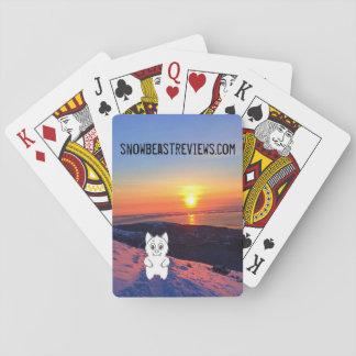 Jogo De Carta Cartões de jogo das revisões do animal da neve do