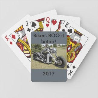 Jogo De Carta Cartões de jogo de esqueleto da motocicleta