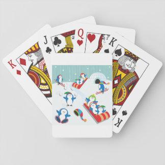 Jogo De Carta Cartões de jogo do divertimento do pinguim