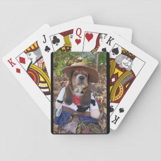 Jogo De Carta Cartões de jogo do filhote de cachorro do cão de