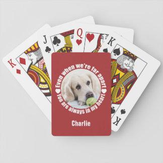 Jogo De Carta Cartões de jogo do SEU amor da FOTO & do NOME