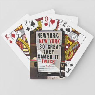 Jogo De Carta Cartões de jogo do sinal de New York, Nova Iorque