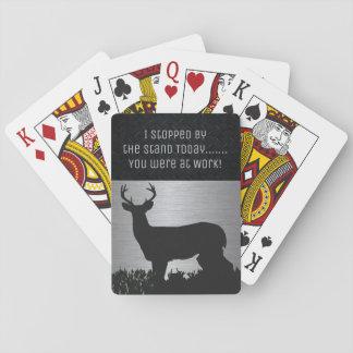 Jogo De Carta Cartões de jogo engraçados do fanfarrão da caça