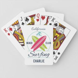 Jogo De Carta Cartões de jogo feitos sob encomenda do surfista